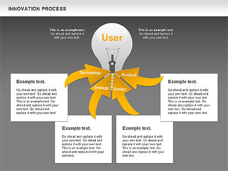 Innovation Process with Lamp Diagram, Slide 14, 01027, Process Diagrams — PoweredTemplate.com