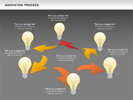Innovation Process with Lamp Diagram, Slide 15, 01027, Process Diagrams — PoweredTemplate.com