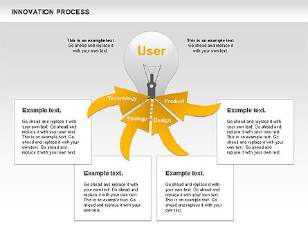 Innovation Process with Lamp Diagram, Slide 3, 01027, Process Diagrams — PoweredTemplate.com