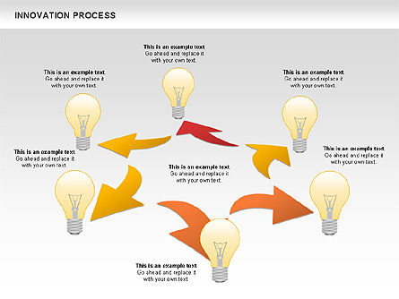 Innovation Process with Lamp Diagram, Slide 4, 01027, Process Diagrams — PoweredTemplate.com