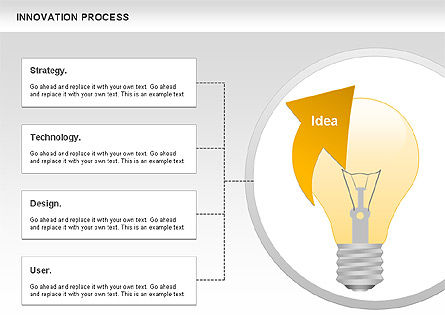 Innovation Process with Lamp Diagram, Slide 5, 01027, Process Diagrams — PoweredTemplate.com