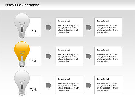 Innovation Process with Lamp Diagram, Slide 6, 01027, Process Diagrams — PoweredTemplate.com