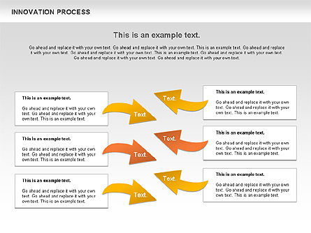 Innovation Process with Lamp Diagram, Slide 9, 01027, Process Diagrams — PoweredTemplate.com
