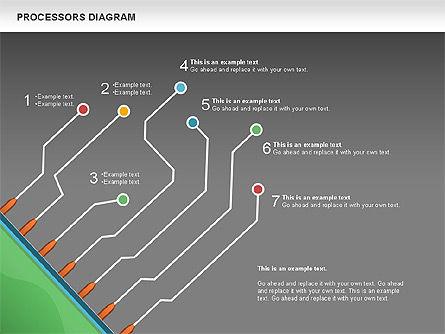 Processor Diagram, Slide 12, 01028, Process Diagrams — PoweredTemplate.com