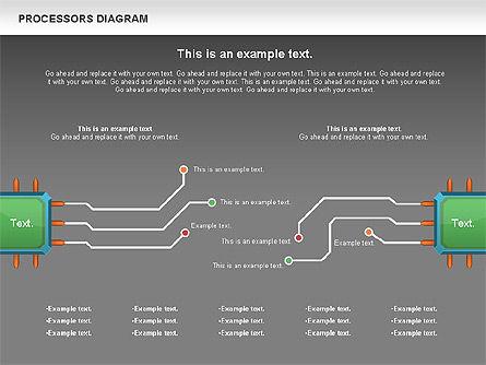 Processor Diagram, Slide 16, 01028, Process Diagrams — PoweredTemplate.com