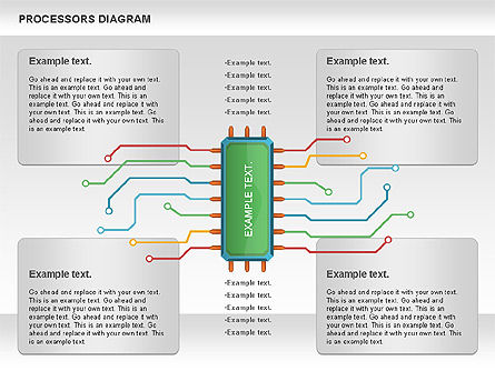 Processor Diagram, Slide 4, 01028, Process Diagrams — PoweredTemplate.com