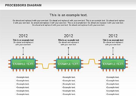 Processor Diagram, Slide 9, 01028, Process Diagrams — PoweredTemplate.com
