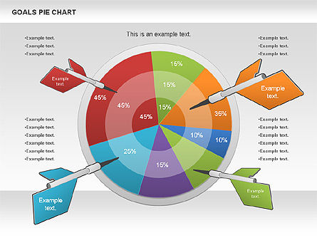Goals Pie Chart, 01029, Pie Charts — PoweredTemplate.com