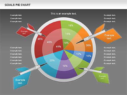 Goals Pie Chart, Slide 12, 01029, Pie Charts — PoweredTemplate.com