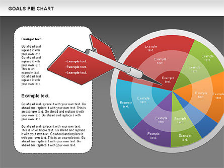 Goals Pie Chart, Slide 13, 01029, Pie Charts — PoweredTemplate.com