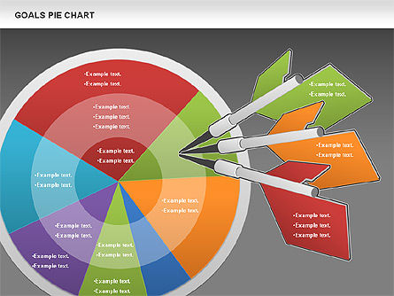 Goals Pie Chart, Slide 14, 01029, Pie Charts — PoweredTemplate.com