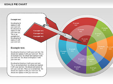 Goals Pie Chart, Slide 2, 01029, Pie Charts — PoweredTemplate.com