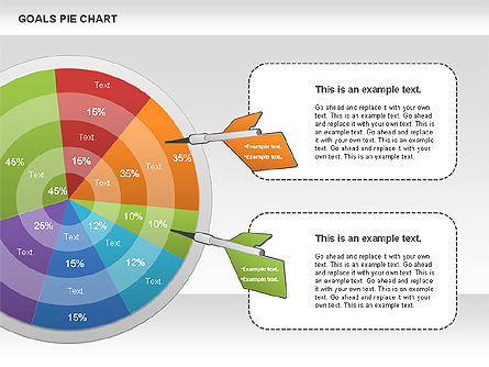 Goals Pie Chart, Slide 8, 01029, Pie Charts — PoweredTemplate.com