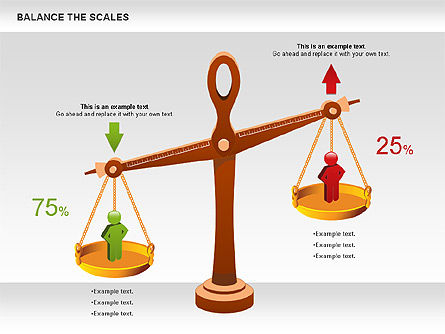 Balance the Scales Diagram, 01031, Business Models — PoweredTemplate.com
