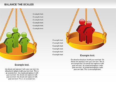 Balance the Scales Diagram, Slide 4, 01031, Business Models — PoweredTemplate.com