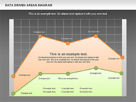 Data Driven Area Diagram, Slide 12, 01032, Business Models — PoweredTemplate.com