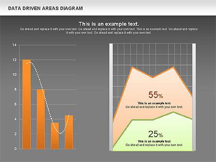 Data Driven Area Diagram, Slide 13, 01032, Business Models — PoweredTemplate.com
