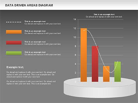Data Driven Area Diagram, Slide 15, 01032, Business Models — PoweredTemplate.com