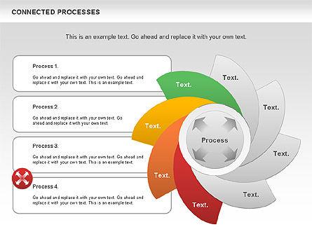Connected Processes Shapes, Slide 10, 01033, Shapes — PoweredTemplate.com