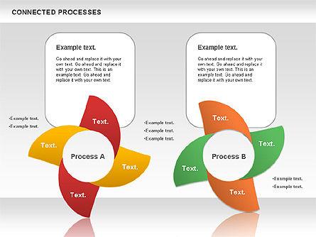 Connected Processes Shapes, Slide 11, 01033, Shapes — PoweredTemplate.com