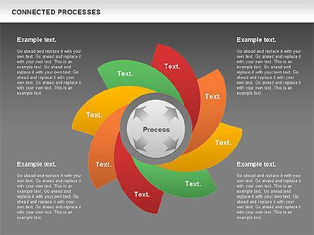 Connected Processes Shapes, Slide 12, 01033, Shapes — PoweredTemplate.com
