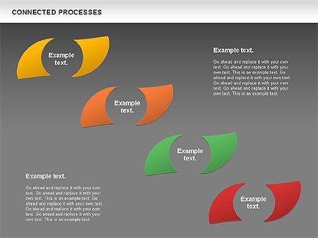 Connected Processes Shapes, Slide 13, 01033, Shapes — PoweredTemplate.com