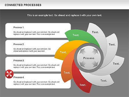 Connected Processes Shapes, Slide 14, 01033, Shapes — PoweredTemplate.com