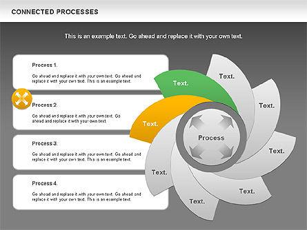 Connected Processes Shapes, Slide 15, 01033, Shapes — PoweredTemplate.com