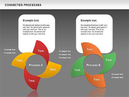 Connected Processes Shapes, Slide 16, 01033, Shapes — PoweredTemplate.com