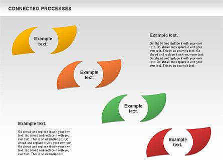 Connected Processes Shapes, Slide 2, 01033, Shapes — PoweredTemplate.com