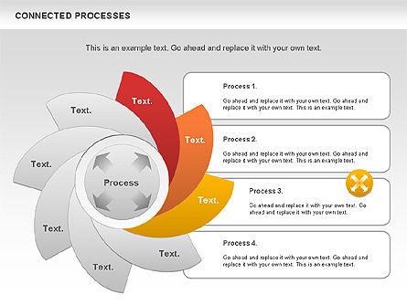 Connected Processes Shapes, Slide 5, 01033, Shapes — PoweredTemplate.com