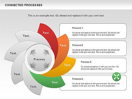 Connected Processes Shapes, Slide 6, 01033, Shapes — PoweredTemplate.com