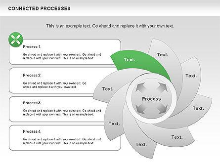 Connected Processes Shapes, Slide 7, 01033, Shapes — PoweredTemplate.com