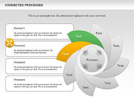 Connected Processes Shapes, Slide 8, 01033, Shapes — PoweredTemplate.com