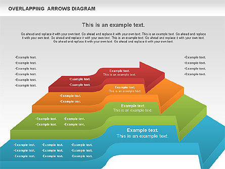 Overlapping Arrows Shapes, Slide 10, 01035, Process Diagrams — PoweredTemplate.com