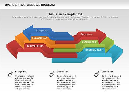 Overlapping Arrows Shapes, Slide 11, 01035, Process Diagrams — PoweredTemplate.com