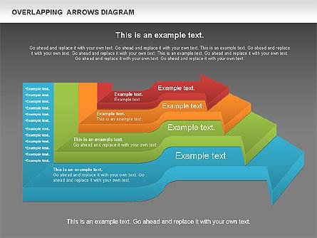 Overlapping Arrows Shapes, Slide 12, 01035, Process Diagrams — PoweredTemplate.com