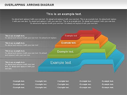 Overlapping Arrows Shapes, Slide 13, 01035, Process Diagrams — PoweredTemplate.com