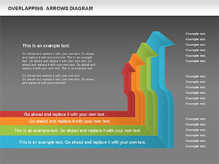 Overlapping Arrows Shapes, Slide 14, 01035, Process Diagrams — PoweredTemplate.com
