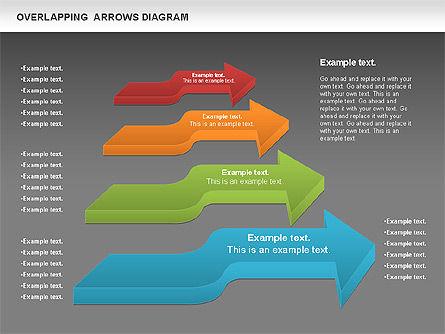 Overlapping Arrows Shapes, Slide 15, 01035, Process Diagrams — PoweredTemplate.com