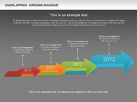 Overlapping Arrows Shapes, Slide 16, 01035, Process Diagrams — PoweredTemplate.com