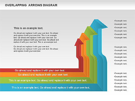 Overlapping Arrows Shapes, Slide 3, 01035, Process Diagrams — PoweredTemplate.com