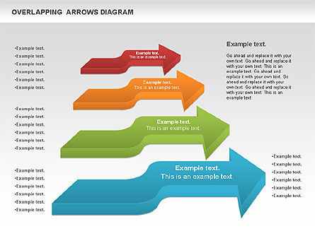 Overlapping Arrows Shapes, Slide 4, 01035, Process Diagrams — PoweredTemplate.com