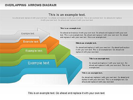 Overlapping Arrows Shapes, Slide 7, 01035, Process Diagrams — PoweredTemplate.com