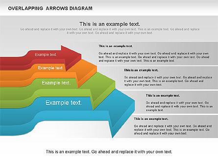 Overlapping Arrows Shapes, Slide 8, 01035, Process Diagrams — PoweredTemplate.com