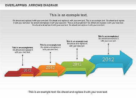 Overlapping Arrows Shapes, Slide 9, 01035, Process Diagrams — PoweredTemplate.com