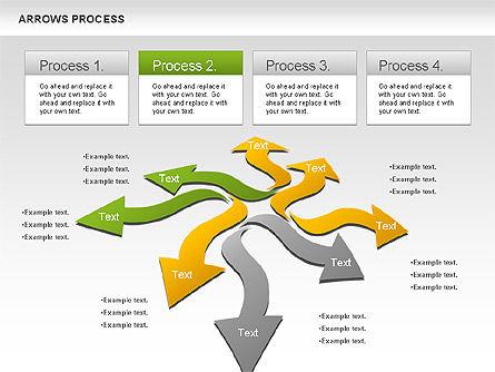 Flexible Arrows Process, Slide 2, 01036, Shapes — PoweredTemplate.com