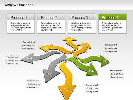Flexible Arrows Process, Slide 4, 01036, Shapes — PoweredTemplate.com