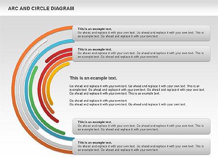 Arc and Circle Diagram, Slide 10, 01040, Shapes — PoweredTemplate.com