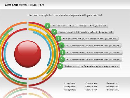Arc and Circle Diagram, Slide 11, 01040, Shapes — PoweredTemplate.com